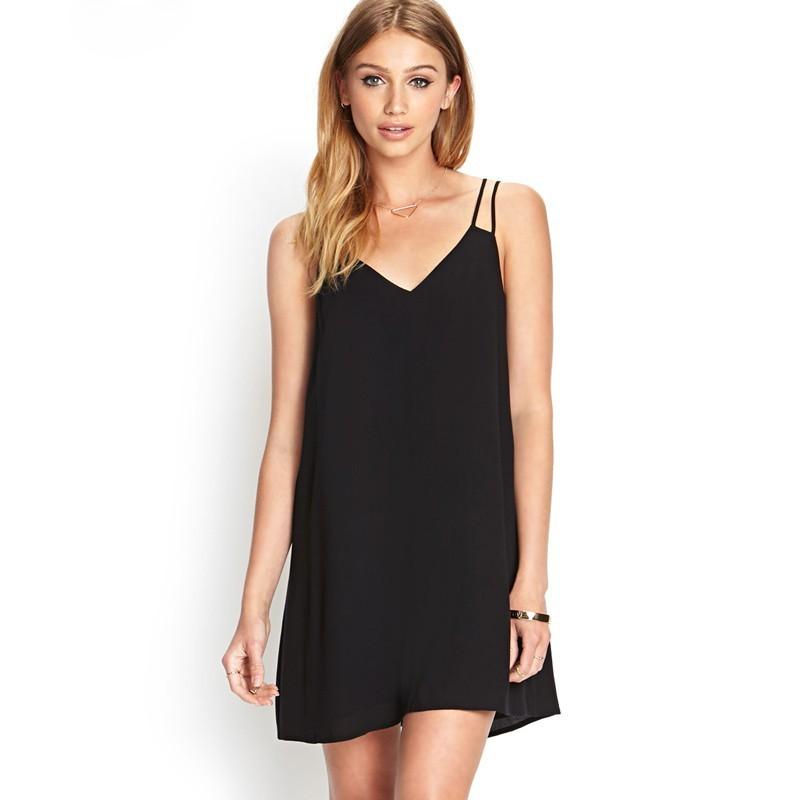 Short Dress Basic Slim Fashion Beach Feminine Casual