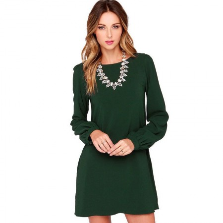 Midi Long Sleeve Imperial Casual Elegant Working Dress