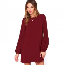 Midi Long Sleeve Imperial Casual Elegant Working Dress