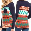 Women's Winter Sweater Striped Navy Blue Sweater