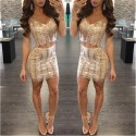 Dress Blouse and Skirt Glamor Party bodycon Female End of Year Party