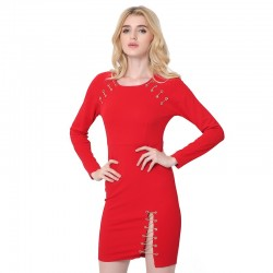 Red Dress Blood Romantic Female Special Night Dropped