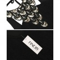 Vestido Luxo Negro Curto Sensual Elegante com Gargantilha