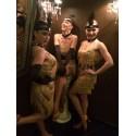 Vestido de Carnaval Feminino Fios Lantejoula Flapper Vintage Dança