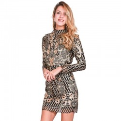 Paête Dress Decorated Sotistic High Quality Elegant Silver Grids