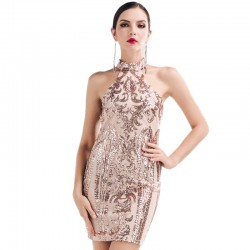 Dress Elegant Social Event Luxury High Quality Sophisticated with Paête
