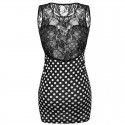Dress Casual Short Polka Dots Elegant with neckline Income
