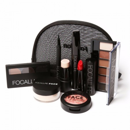 Complete Set of Makeup Kit with 8 items Included and Bag