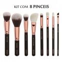 Kit de Pinceis de Maquiagem Olhos Conjunto com 8 Pinceis com Estojo