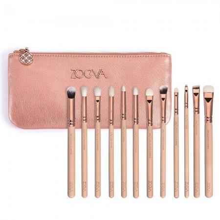 Kit 12 Fine Pink Brushes Kit for Eye Makeup Brushes