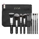 Kit 10 Soft Makeup Brushes Set with Brushes with Case