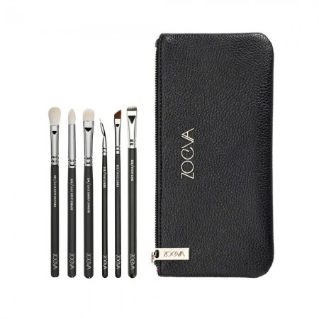 Kit Basic Makeup Kit with 6 Fine Brushes Eyes and Eyebrows