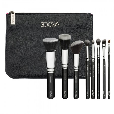 Kit 8 Makeup Brushes with Kit and Free Case
