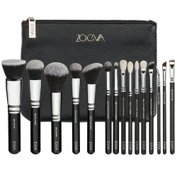 Kit 15 Makeup Brushes Kit Set Free Case and Bag