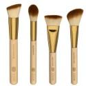 Kit 8 Gold Makeup Brushes Kit Set Kit and Bag