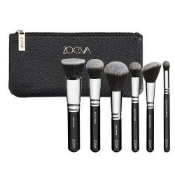 Kit 6 Brushes Thick Makeup Soft Black Blush Zoeva Free Bag