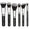 Kit 6 Brushes Thick Makeup Soft Black Blush Zoeva Free Bag