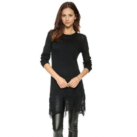 Women's Sweater In Black Lace