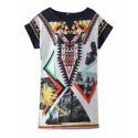 SWAG Women's Long T-Shirt Tunica Egyptian Geometrica