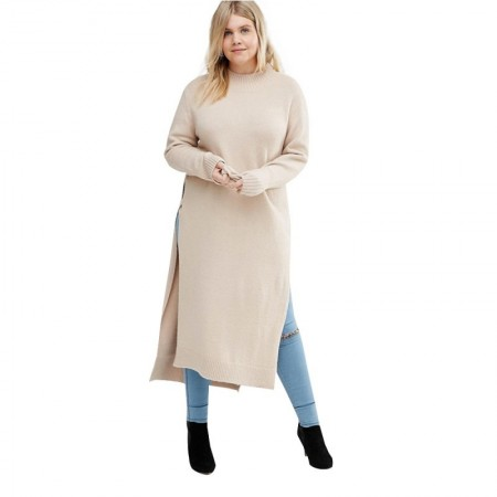 Plus Size Women's Plus Size Long-Sleeved Lapel Winter Blouse