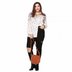 Floral Casual Plus Size Women's Shirt