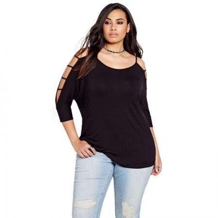 Moa Plus Size Women's 3/4 Sleeve Summer Blouse