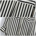 Social Shirt Striped Work Blouse Executive Desk