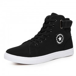 Men's Shoe High Top Boot Floor White All Star Black
