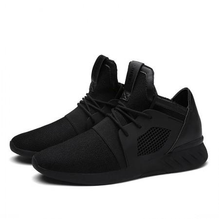 Sapato Masculino Esportivo Treino Fitness em Tecido Elestico Cano Midi