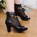 Women's Boots Black Boots Medium Grosso Party Club and Ballad