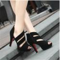 Sapato Salto Alto Fino Feminino Preto Design Moderno Elegante Social