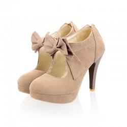 Sapato Alto Feminino com Platafomorma Diversas Cores Laço Katy Perry