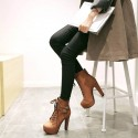 Women's Boots Couture Cowgirl Platform Leather and High Heels