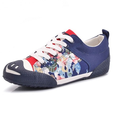 Sapatênis Female Colored Rasteiro Casual School Stamped Floral