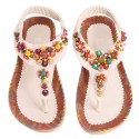 Women's Sandal Decorated Casual Colorful Elastic Creeper