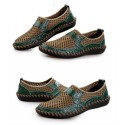 Sapato Masculino Casual Flexivel Dobravel Respiravel em Couro Loafers