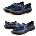 Men's Casual Shoes Breathable Foldable Leather Loafers