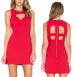 Basic Red Dress Short Summer Fashion