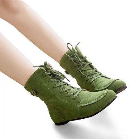 d5cbd33e9e Sapato Bota Feminino Cano Alto Tornozelo Estilo Militar Verde Tênis