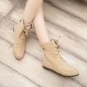 Shoe Boot Female Cano High Ankle Military Style Green Tennis