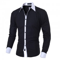 Men's Social Smooth Basic Long Sleeve Button