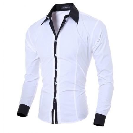 Men's Social Smooth Basic Long Sleeve Button