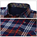 Casual Shirt Striped Plaid Long Sleeve Party Ballad Young Club