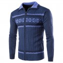 Sweater Pullover Winter Sweater Men's Ziper Long Sleeve Thick