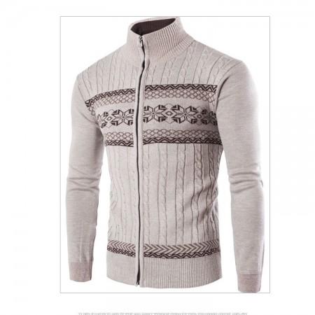 Suéter Blusão Pullover de Inverno Masculino Ziper Manga Longa Grosso