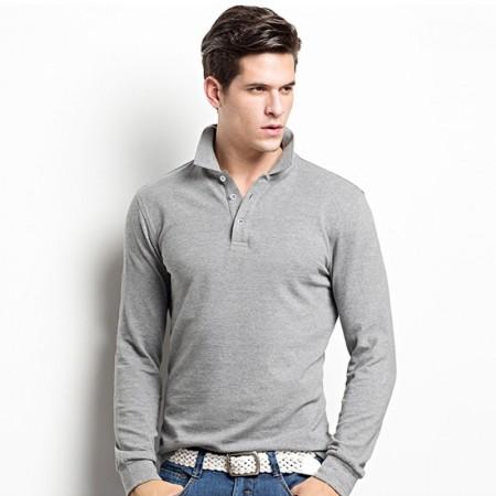 Camisetas Manga Longa Lisa Básica Esporte Fino Gola Polo Masculina