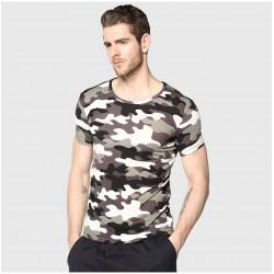 Camiseta Estampa do Exercito Militar Básica Casual Esporte Fino Homem