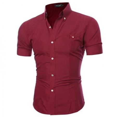 Men's Casual Shirt Casual Short Sleeve Casual Gray