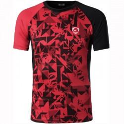Camiseta de Treino Fitness Masculina Estampada Esporte Fino Vermelha