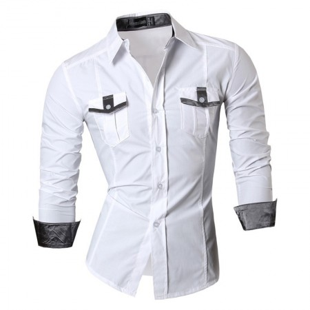Casual Jeans Casual Shirt Long Sleeve Metallic Button Mens Jacket